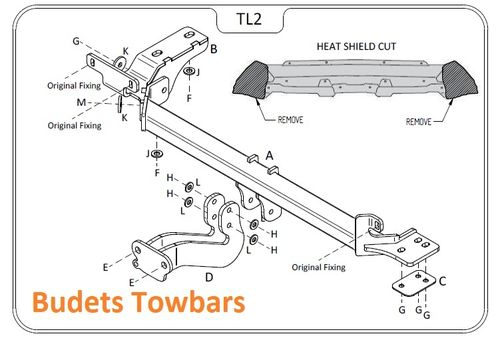 Range Rover Evoque Convertible 2016 - 2019 - Tow Trust Flange Towbar