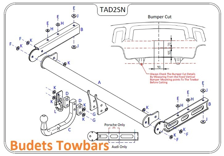 Porsche Macan 2014 Onwards - Tow Trust Swan Neck Towbar