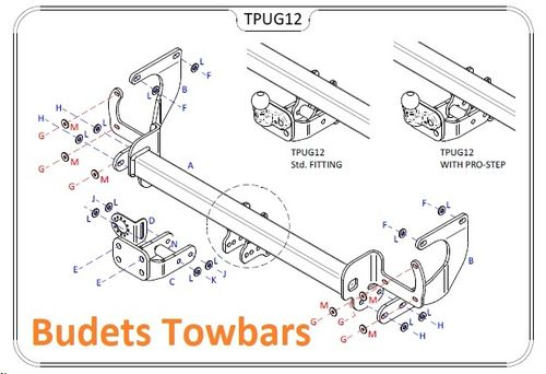 Peugeot Traveller (Inc. Combi) 2016 Onwards - Tow Trust Flange Towbar