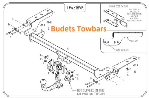 Peugeot 308 Hatch 2007 - 2013 - Tow Trust Detachable Towbar