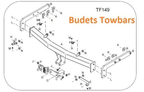 Ford Galaxy Towbar (1995-2006) Tow Trust Flange Towing Hitch Draw Bar