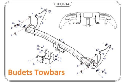 Peugeot 3008 Crossover 2017 Onwards - Tow Trust Flange Towbar