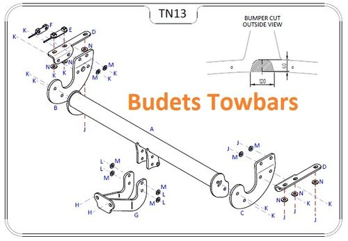 Nissan X Trail (T32) 2014 Onwards - Tow Trust Flange Towbar