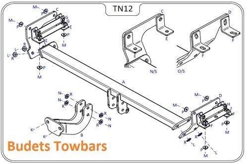 Nissan Qashqai (J11) (Not With AdBlue) 2014 Onwards - Tow Trust Flange Towbar