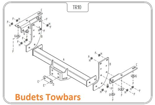 NV400 Chassis Cab single rear wheel, FWD & RWD 2011 Onwards - Tow Trust Flange Towbar