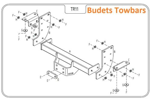 Nissan NV400 Chassis Cab twin rear wheel, RWD 2011 Onwards - Tow Trust Flange Towbar