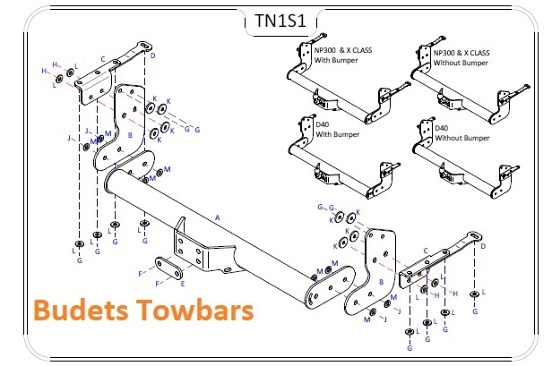 Mercedes X Class/4WD Pick-Up 2016 Onwards - Tow Trust Flange Towbar