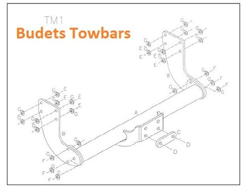 Mercedes Sprinter Chassis Cab 4X4 2018 Onwards - Tow Trust Flange Towbar