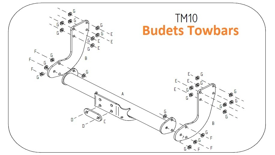 Mercedes Sprinter Van TRW 770mm Chassis 2018 Onwards - Tow Trust Flange Towbar