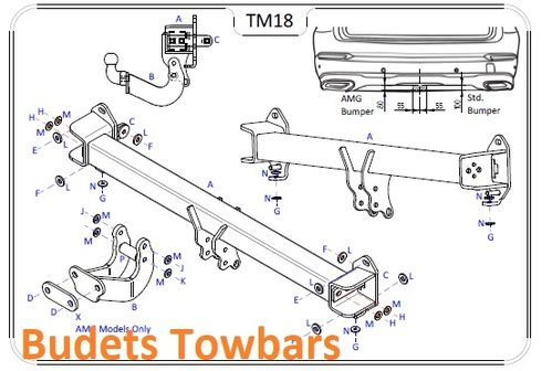 Mercedes GLC (X253) (NOT AMG) 2015 Onwards - Tow Trust Flange Towbar