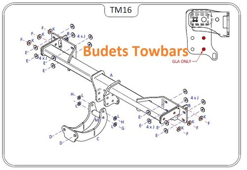 Mercedes GLA (X156) 2014 Onwards - Tow Trust Flange Towbar