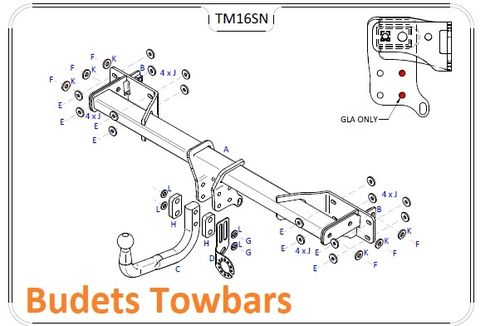 Mercedes GLA (X156) 2014 Onwards - Tow Trust Swan Neck Towbar