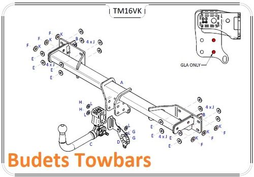 Mercedes GLA (X156) 2014 Onwards - Tow Trust Detachable Towbar