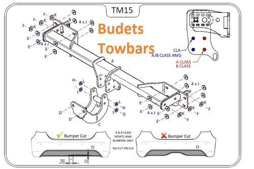 Mercedes CLA Shooting Brake (X117) 2015 Onwards - Tow Trust Flange Towbar