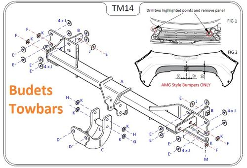 Mercedes C Class Cabriolet (A205) 2016 Onwards - Tow Trust Flange Towbar