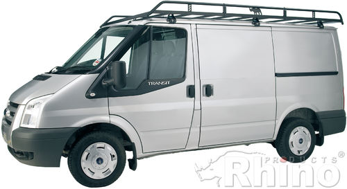 Ford Transit Roof Rack (2000-2014 SWB, Low Roof) Rhino Modular Rack