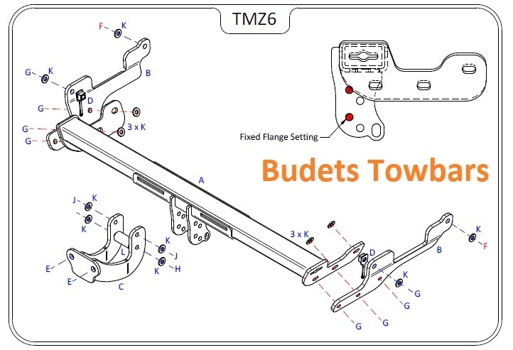 Mazda CX-5 (Not With AdBlue) 2017 Onwards - Tow Trust Flange Towbar