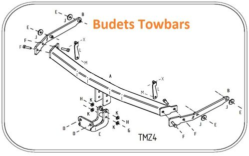 Mazda 6 Estate 2008 - 2013 - Tow Trust Flange Towbar