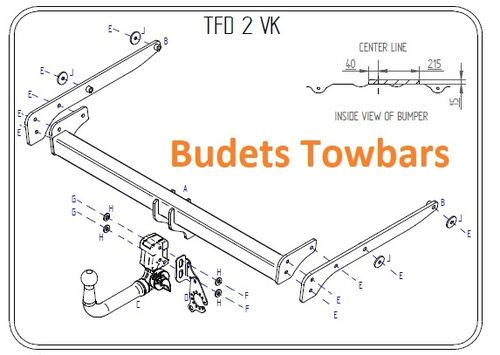 Ford Kuga 2WD & 4WD 2008 - 2013 - Tow Trust Detachable Towbar