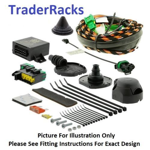 Fiat Doblo Towbar Wiring Jul 2016 - 2019 7 pin Dedicated Towing Electrics Kit
