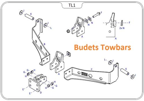 Land Rover Discovery 3 & 4 2005 - 2017 - Tow Trust Flange Towbar