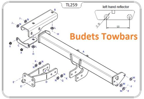 Land Rover Freelander 2 2006 - 2015 - Tow Trust Flange Towbar