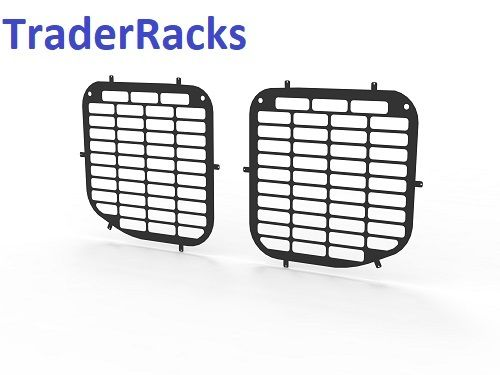 Ford Transit Tipper Crew Cab 2014 Onwards - Punched Black Side Window Grilles