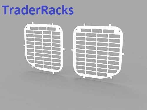 Ford Transit Tipper Crew Cab 2014 Onwards - Punched White Side Window Grilles