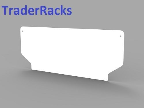 Ford Transit Tipper Crew Cab 2014 Onwards - Solid White Rear Window Blank