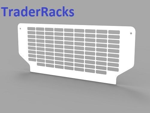 Ford Transit Tipper 2014 Onwards - Punched White Rear Window Grille