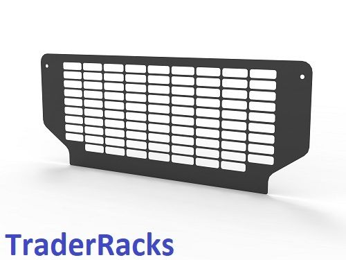 Ford Transit Tipper 2014 Onwards - Punched Black Rear Window Grille