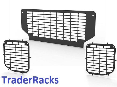 Ford Transit Tipper 2014 Onwards - Punched Black Side and Rear Window Grilles