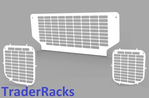 Ford Transit Tipper 2014 Onwards - Punched White Side and Rear Window Grilles