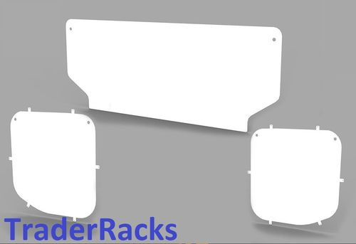 Ford Transit Tipper 2014 Onwards - Solid White Side and Rear Window Blanks