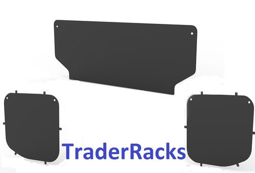 Ford Transit Tipper 2014 Onwards - Solid Black Side and Rear Window Blanks