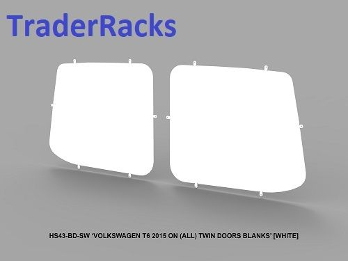 VW Transporter T6 2014 - 2018 - Solid White Rear Window Blanks