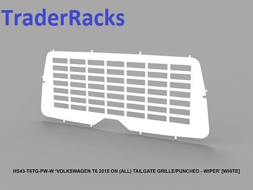 VW Transporter T6 2014 - 2018 - Punched White Window Grille with Wiper Cut