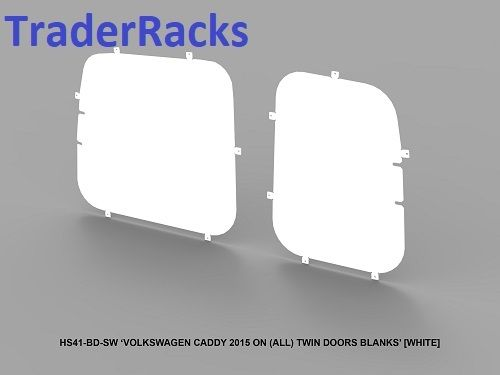 VW Caddy Van (Twin Rear Door) 2004 - 2018 - Solid White Rear Window Blanks