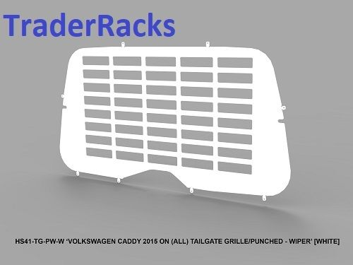 VW Caddy 2004 - 2018 - Punched White Window Grille with Wiper Cut