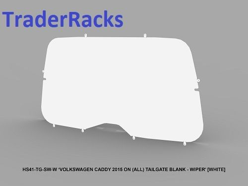 VW Caddy 2004 - 2018 - Solid White Window Blank with Wiper Cut