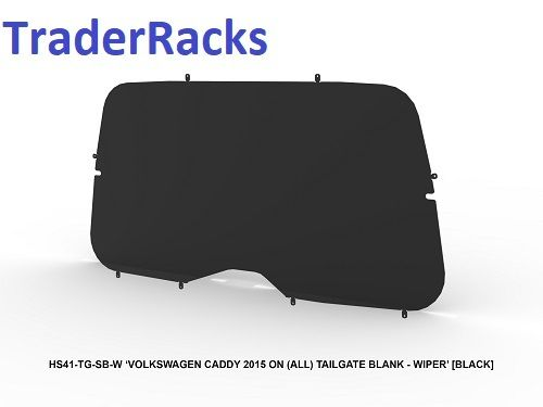 VW Caddy 2004 - 2018 - Solid Black Window Blank with Wiper Cut