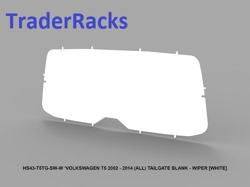 VW T5 Transporter 2002 - 2014 - Solid White Window Blank w/ Wiper