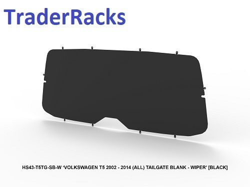 VW T5 Transporter 2002 - 2014 - Solid Black Window Blank w/ Wiper