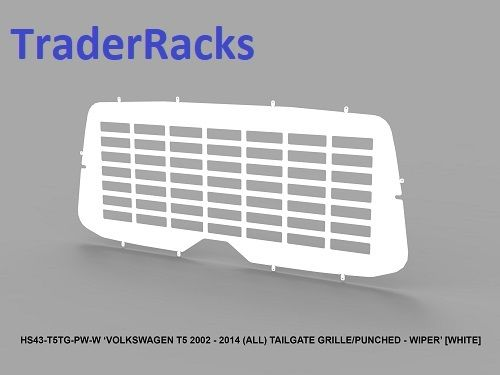 VW T5 Transporter 2002 - 2014 - Punched White Window Grille w/ Wiper