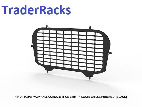 Vauxhall Corsa 2015 Onwards - Punched Black Window Grille