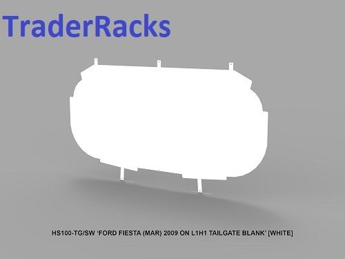 Ford Fiesta Van 2009-18 - Solid White Window Blank