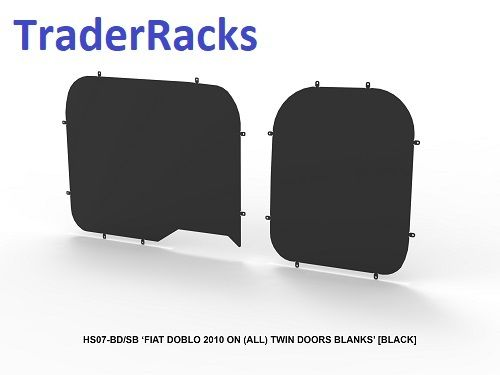 Fiat Doblo 2010 Onwards - Solid Black Window Blanks
