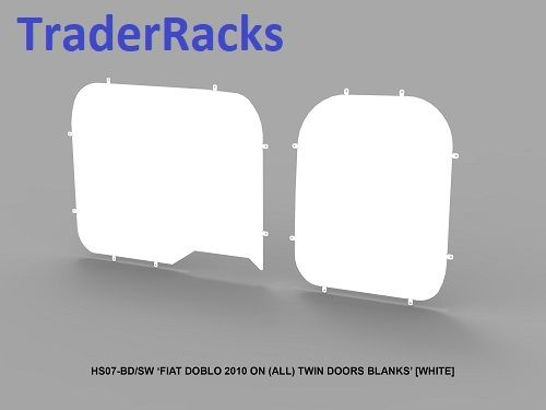 Fiat Doblo 2010 Onwards - Solid White Window Blanks