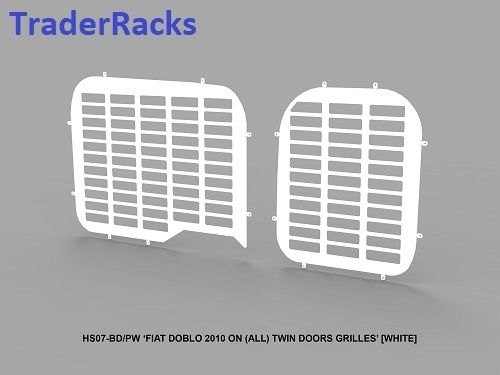 Fiat Doblo 2010 Onwards - Punched White Window Grilles
