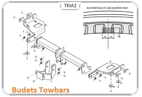 Kia Sportage 4 (Not With Adblue) 2016 - 2018 - Tow Trust Flange Towbar